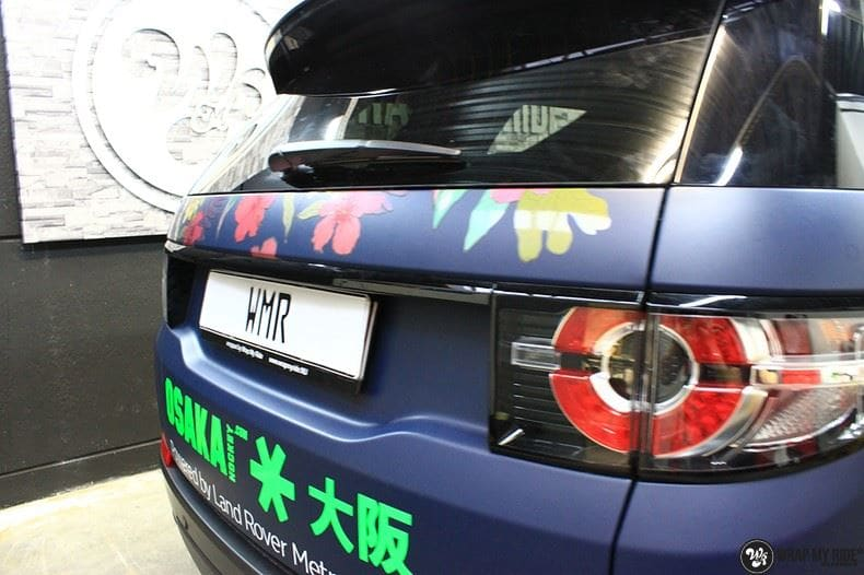 Range Rover Discovery Flower, Carwrapping door Wrapmyride.nu Foto-nr:8790, ©2017