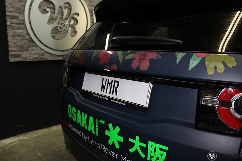 Range Rover Discovery Flower, Carwrapping door Wrapmyride.nu Foto-nr:8789, ©2017