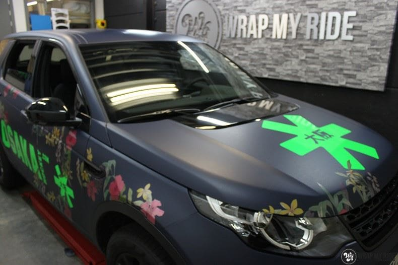 Range Rover Discovery Flower, Carwrapping door Wrapmyride.nu Foto-nr:8786, ©2017