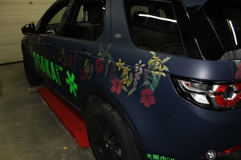 Range Rover Discovery Flower, Carwrapping door Wrapmyride.nu Foto-nr:8785, ©2017
