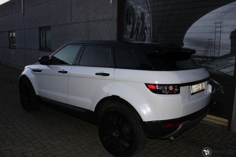 Range Rover Evoque Avery White Diamond, Carwrapping door Wrapmyride.nu Foto-nr:9824, ©2017