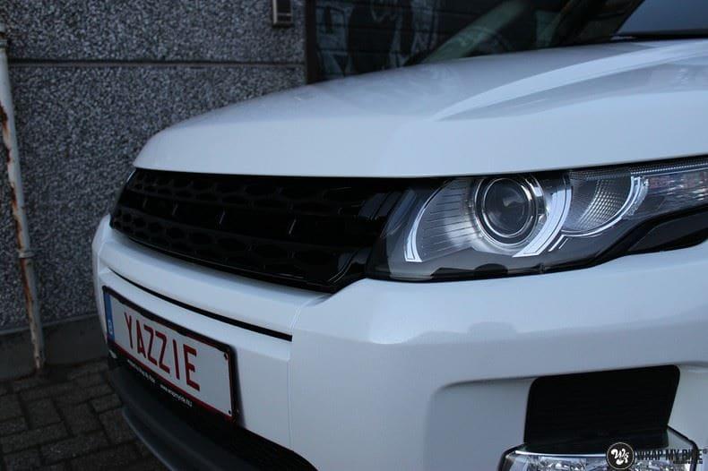 Range Rover Evoque Avery White Diamond, Carwrapping door Wrapmyride.nu Foto-nr:9823, ©2017