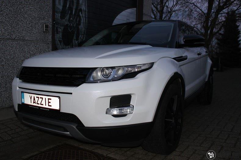 Range Rover Evoque Avery White Diamond, Carwrapping door Wrapmyride.nu Foto-nr:9822, ©2017