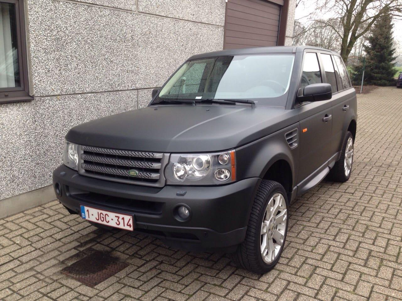 Beroemd Range Rover Sport met Mat Zwarte Wrap | Wrap My Ride YQ33