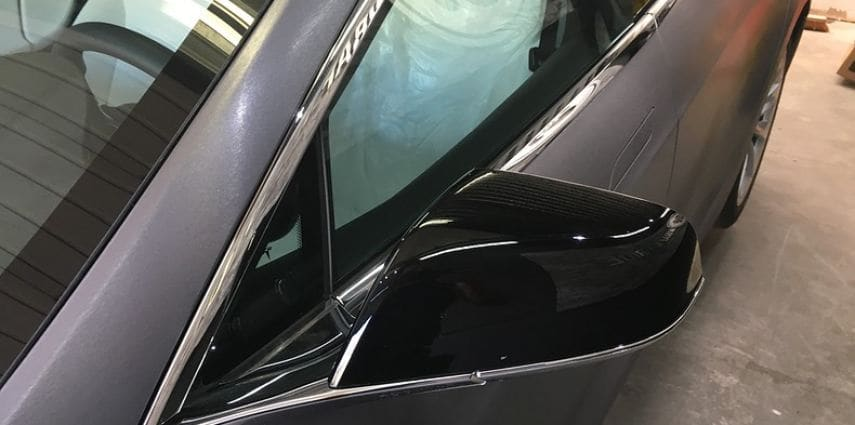 Tesla Model S brushed steel