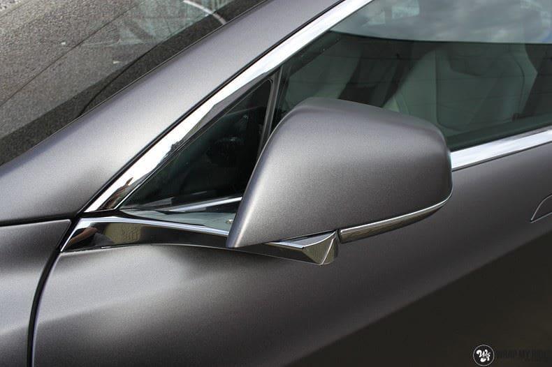 Tesla Model S Satin Dark Grey, Carwrapping door Wrapmyride.nu Foto-nr:9580, ©2017