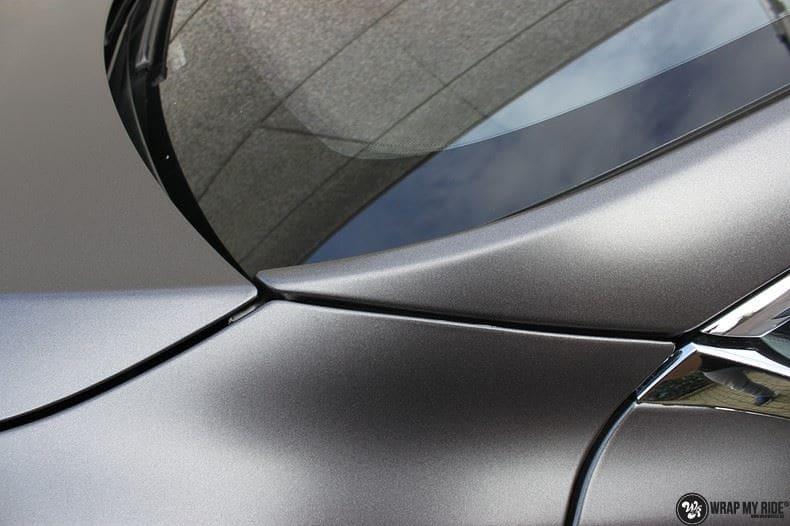 Tesla Model S Satin Dark Grey, Carwrapping door Wrapmyride.nu Foto-nr:9579, ©2017