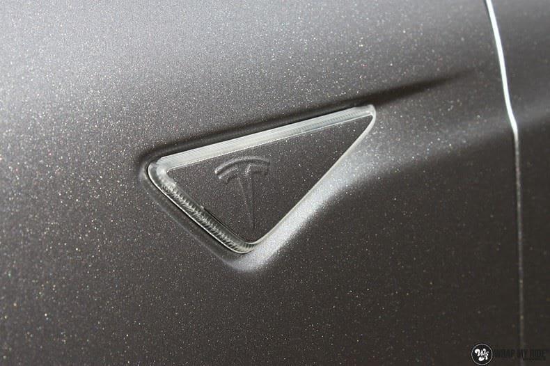 Tesla Model S Satin Dark Grey, Carwrapping door Wrapmyride.nu Foto-nr:9572, ©2017
