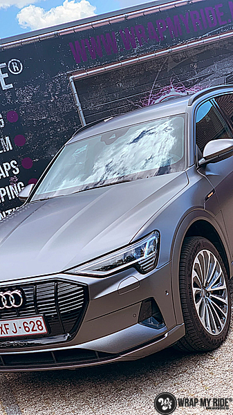 Audi E-tron satin dark grey, Carwrapping door Wrapmyride.nu Foto-nr:13560, ©2020
