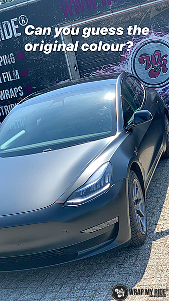 tesla model 3 Satin Black, Carwrapping door Wrapmyride.nu Foto-nr:13492, ©2020