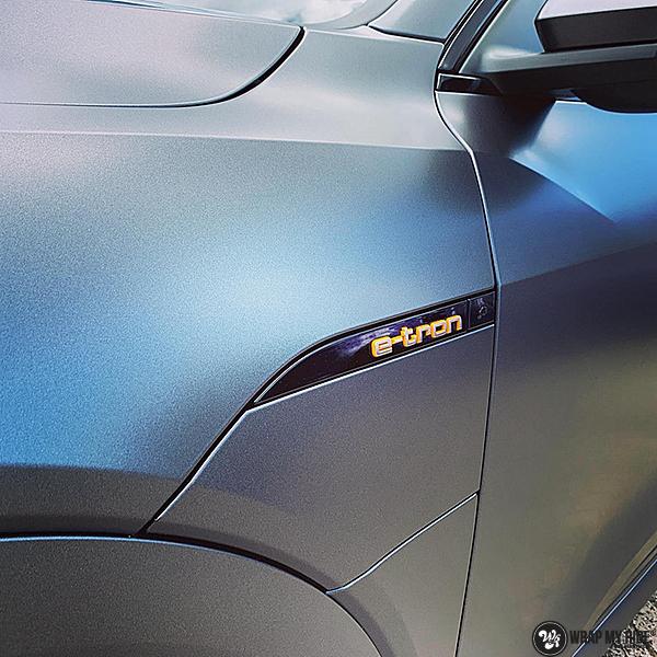 Audi E-tron satin dark grey, Carwrapping door Wrapmyride.nu Foto-nr:13564, ©2021