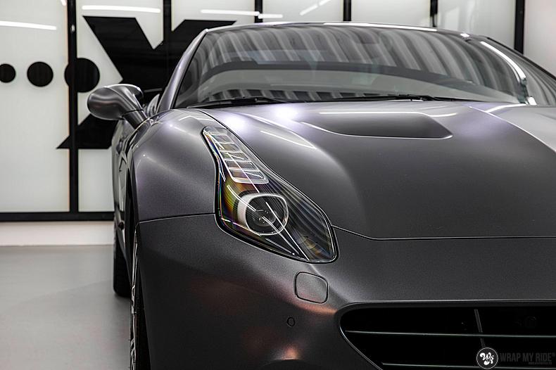 Ferrari California satin dark grey, Carwrapping door Wrapmyride.nu Foto-nr:13837, ©2020