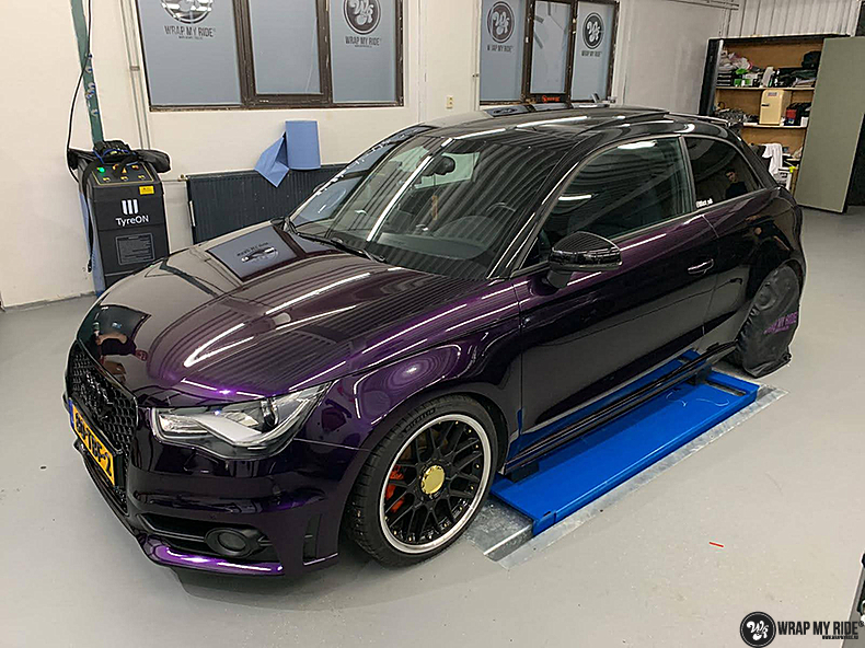 Audi A1 inozotec midnight purple, Carwrapping door Wrapmyride.nu Foto-nr:13707, ©2021