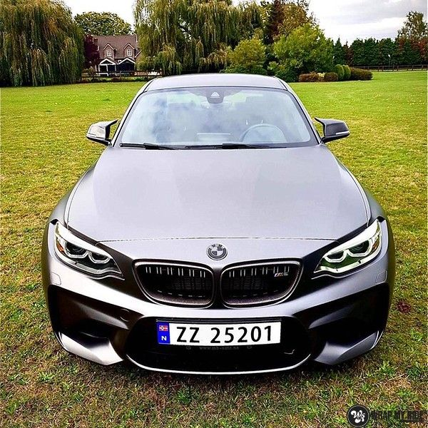 BMW M2 Satin dark grey, Carwrapping door Wrapmyride.nu Foto-nr:13067, ©2020