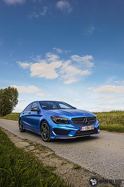 Mercedes CLA Matte Bleu Chrome, Carwrapping door Wrapmyride.nu Foto-nr:13749, ©2021