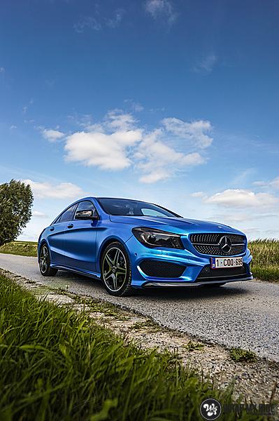Mercedes CLA Matte Bleu Chrome, Carwrapping door Wrapmyride.nu Foto-nr:13747, ©2021