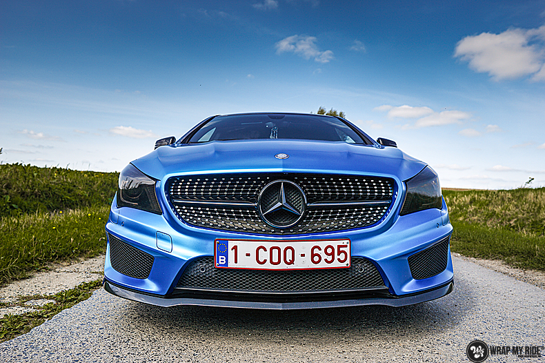 Mercedes CLA Matte Bleu Chrome, Carwrapping door Wrapmyride.nu Foto-nr:13755, ©2021