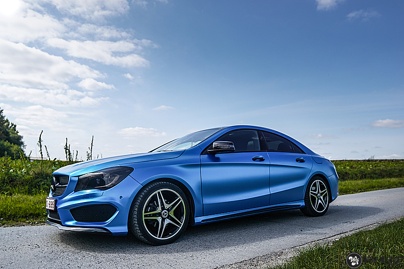 Mercedes CLA Matte Bleu Chrome, Carwrapping door Wrapmyride.nu Foto-nr:13756, ©2021