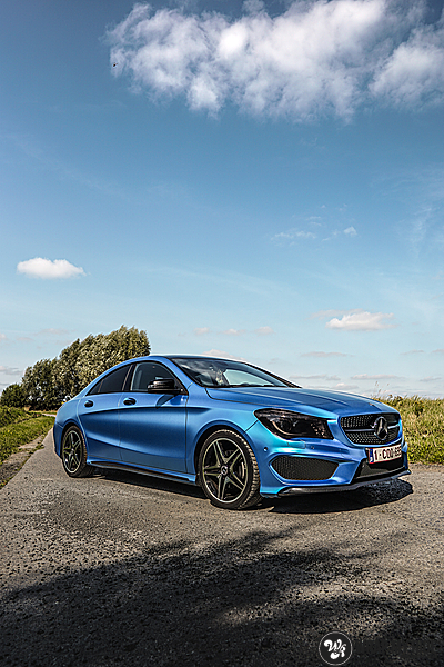 Mercedes CLA Matte Bleu Chrome, Carwrapping door Wrapmyride.nu Foto-nr:13759, ©2021