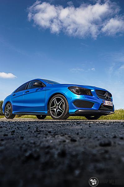 Mercedes CLA Matte Bleu Chrome, Carwrapping door Wrapmyride.nu Foto-nr:13760, ©2021