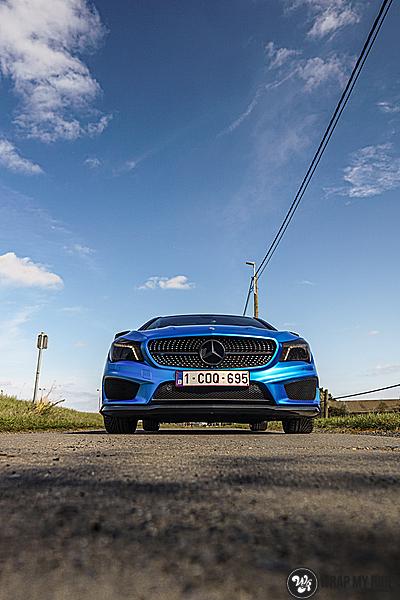 Mercedes CLA Matte Bleu Chrome, Carwrapping door Wrapmyride.nu Foto-nr:13762, ©2021