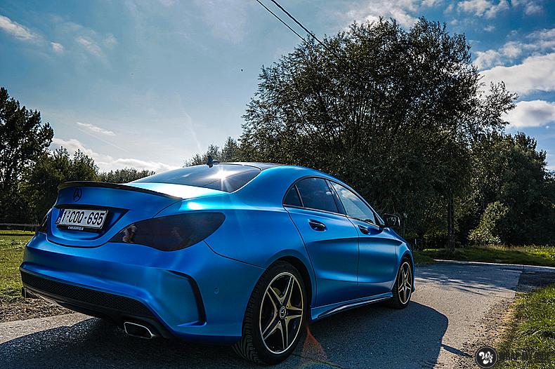 Mercedes CLA Matte Bleu Chrome, Carwrapping door Wrapmyride.nu Foto-nr:13763, ©2021