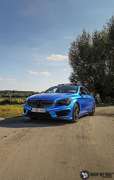 Mercedes CLA Matte Bleu Chrome, Carwrapping door Wrapmyride.nu Foto-nr:13781, ©2021