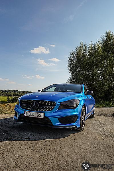 Mercedes CLA Matte Bleu Chrome, Carwrapping door Wrapmyride.nu Foto-nr:13784, ©2021