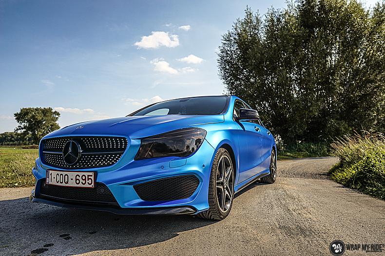 Mercedes CLA Matte Bleu Chrome, Carwrapping door Wrapmyride.nu Foto-nr:13785, ©2021
