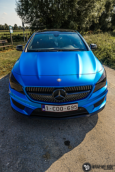 Mercedes CLA Matte Bleu Chrome, Carwrapping door Wrapmyride.nu Foto-nr:13788, ©2021