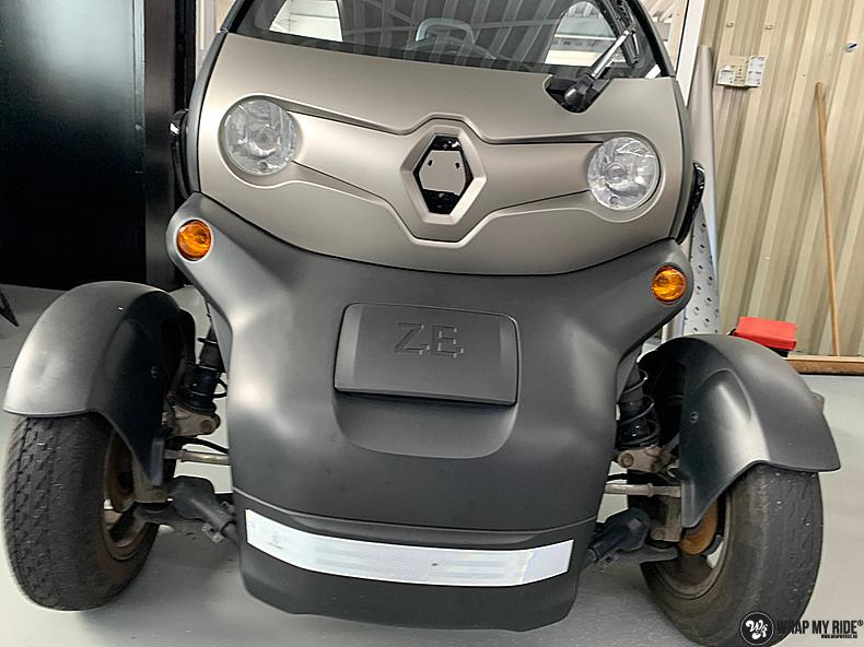 Renault Twizzy matte aluminium grey, Carwrapping door Wrapmyride.nu Foto-nr:13542, ©2021