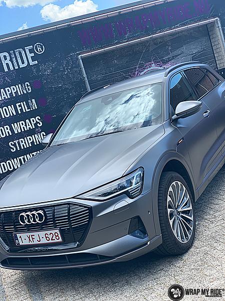 Audi E-tron satin dark grey, Carwrapping door Wrapmyride.nu Foto-nr:13585, ©2021