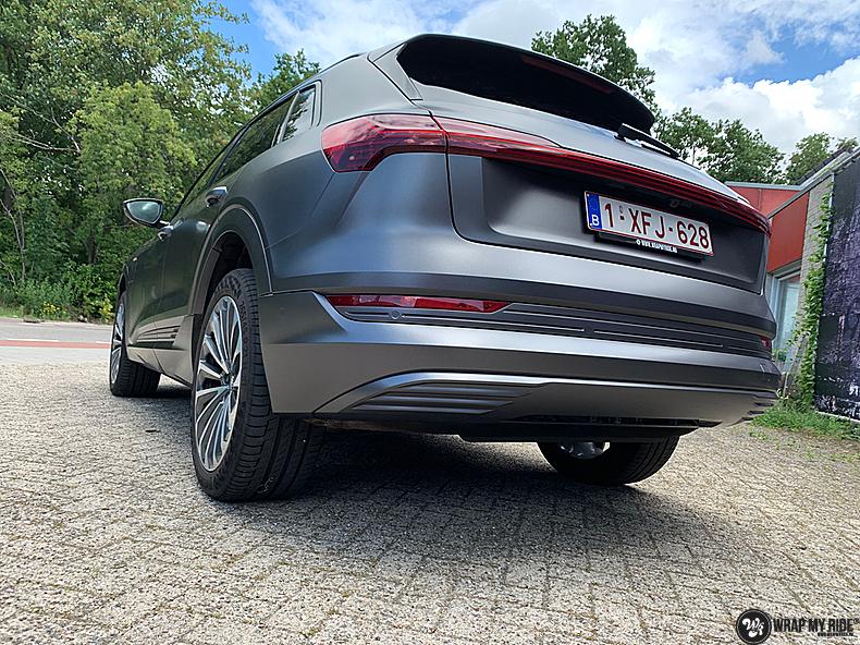 Audi E-tron satin dark grey, Carwrapping door Wrapmyride.nu Foto-nr:13588, ©2021