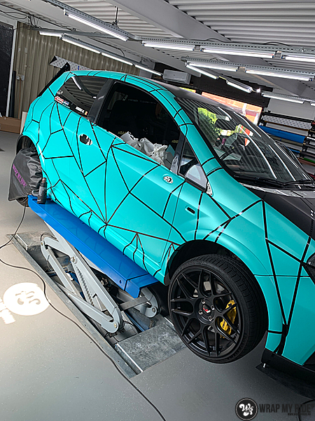 Fiat Punto Abarth custom design, Carwrapping door Wrapmyride.nu Foto-nr:13447, ©2021