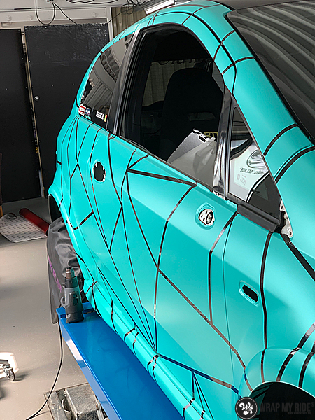 Fiat Punto Abarth custom design, Carwrapping door Wrapmyride.nu Foto-nr:13448, ©2021