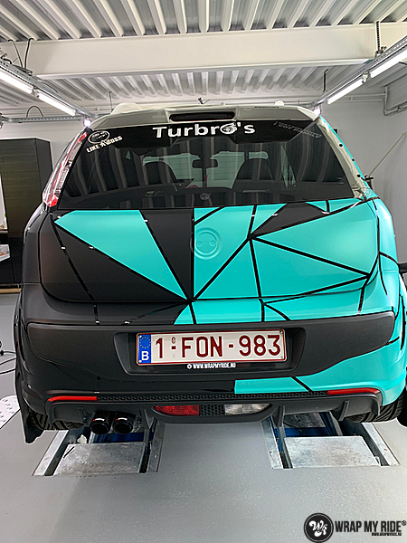 Fiat Punto Abarth custom design, Carwrapping door Wrapmyride.nu Foto-nr:13460, ©2021