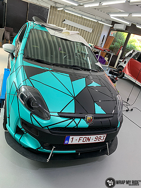 Fiat Punto Abarth custom design, Carwrapping door Wrapmyride.nu Foto-nr:13462, ©2021