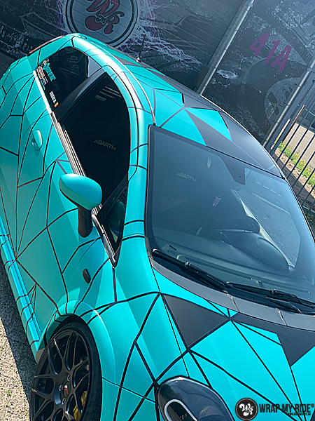Fiat Punto Abarth custom design, Carwrapping door Wrapmyride.nu Foto-nr:13465, ©2021