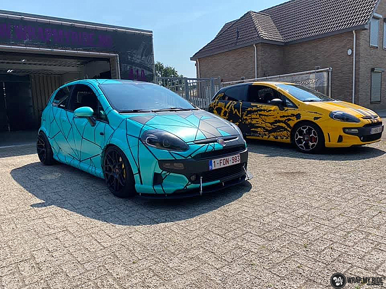 Fiat Punto Abarth custom design, Carwrapping door Wrapmyride.nu Foto-nr:13468, ©2021