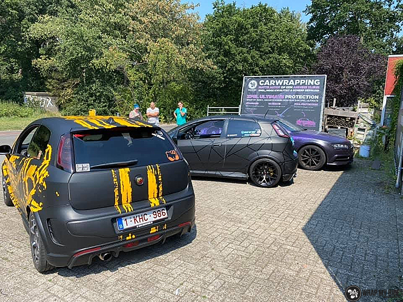 Fiat Punto Abarth custom design, Carwrapping door Wrapmyride.nu Foto-nr:13470, ©2021