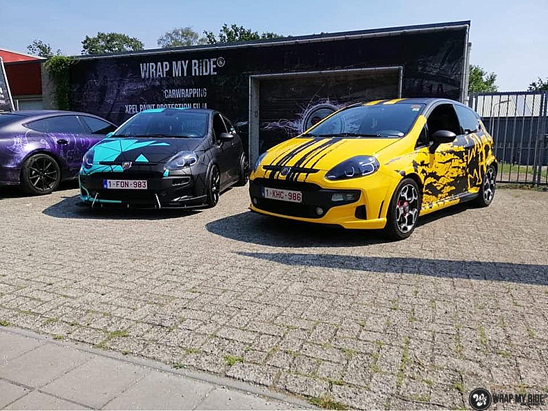 Fiat Punto Abarth custom design, Carwrapping door Wrapmyride.nu Foto-nr:13474, ©2021