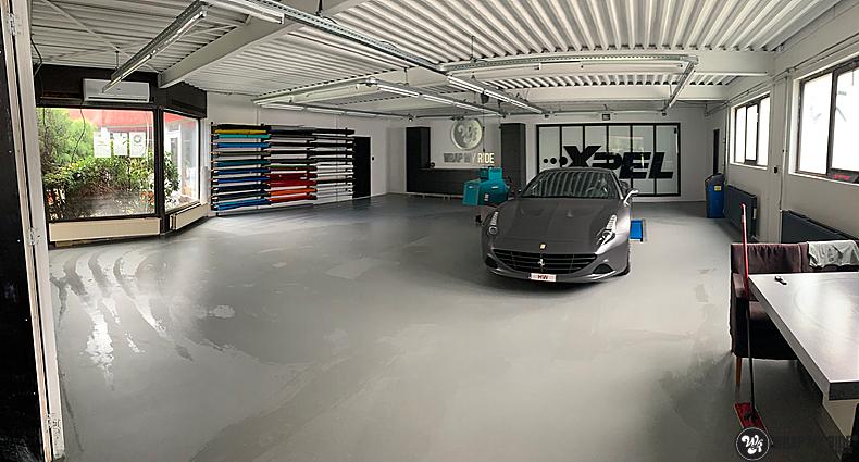 Ferrari California satin dark grey, Carwrapping door Wrapmyride.nu Foto-nr:13860, ©2020