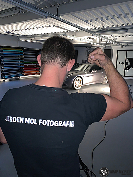 Ferrari California satin dark grey, Carwrapping door Wrapmyride.nu Foto-nr:13861, ©2020