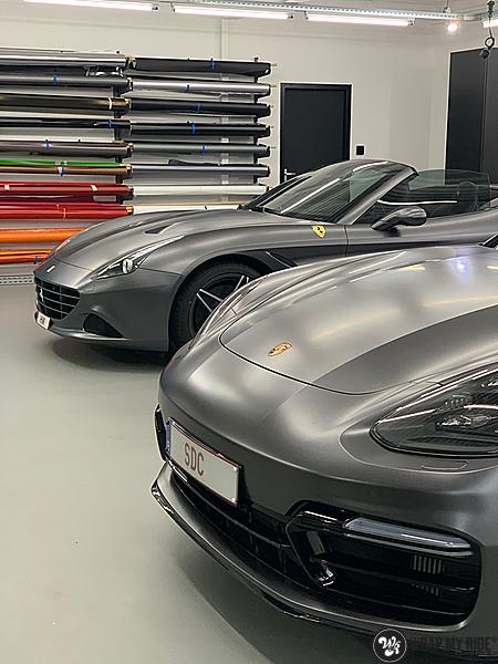 Ferrari California satin dark grey, Carwrapping door Wrapmyride.nu Foto-nr:13862, ©2020