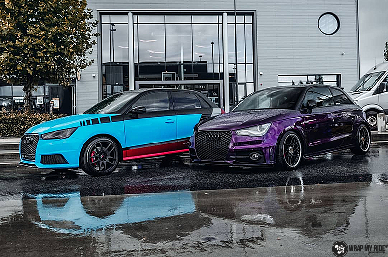 Audi A1 inozotec midnight purple, Carwrapping door Wrapmyride.nu Foto-nr:13743, ©2020