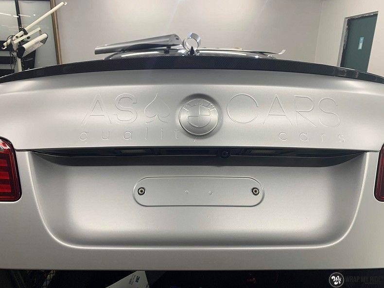 BMW M5 satin white aluminium, Carwrapping door Wrapmyride.nu Foto-nr:13127, ©2020