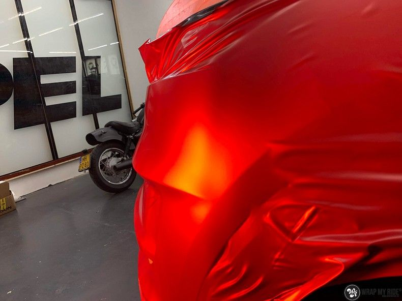 Hyundai Tucson satin vampire red, Carwrapping door Wrapmyride.nu Foto-nr:13184, ©2021