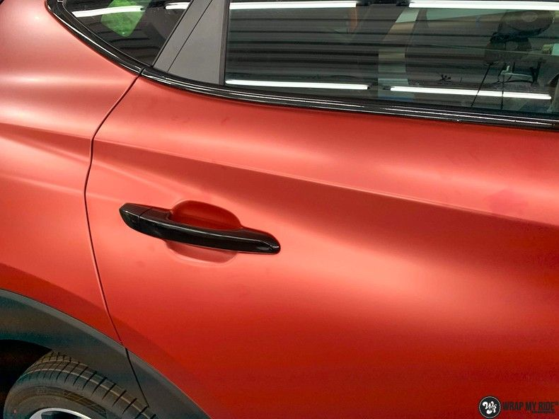 Hyundai Tucson satin vampire red, Carwrapping door Wrapmyride.nu Foto-nr:13198, ©2021
