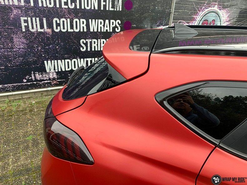 Hyundai Tucson satin vampire red, Carwrapping door Wrapmyride.nu Foto-nr:13211, ©2021
