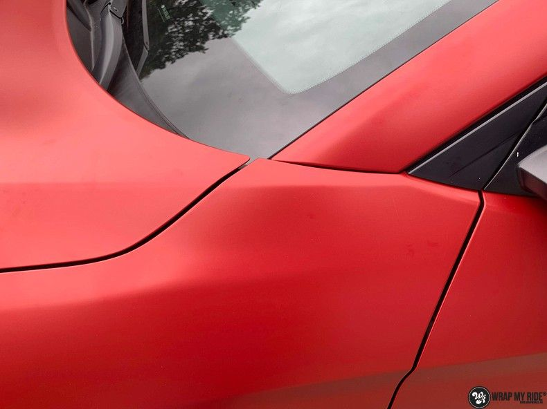 Hyundai Tucson satin vampire red, Carwrapping door Wrapmyride.nu Foto-nr:13217, ©2021